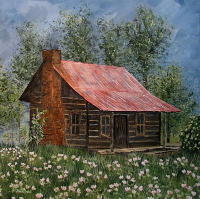 Painting - Clover Cabin by Mary Arneson