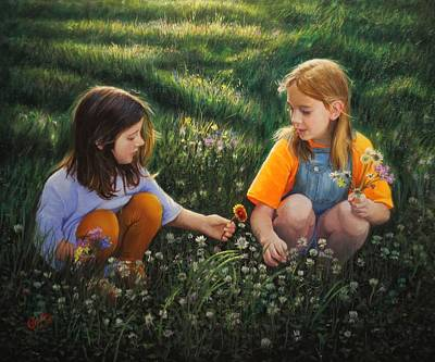 Painting - Clover Field Surprise by Glenn Beasley