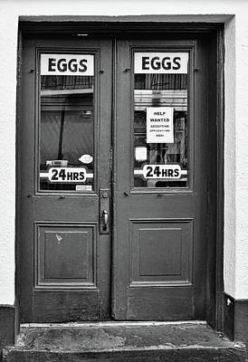 Photograph - Clover Grill - Eggs 24/7 - New Orleans - B/w by Greg Jackson