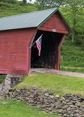 Photograph - Clover Hollow Covered Bridge 01 by Teresa Mucha