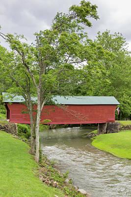 Photograph - Clover Hollow Covered Bridge 03 by Teresa Mucha
