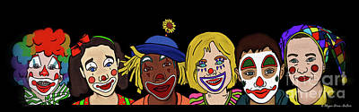 Jester Digital Art - Clown Alley By Megan Dirsa-dubois by Megan Dirsa-DuBois