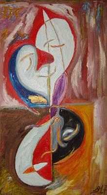 Painting - Clown And Clowns by Bennu Bennu