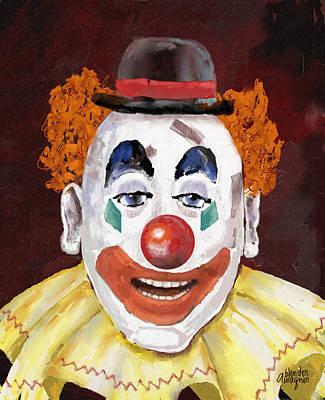 Clown Digital Art - Clown by Arline Wagner