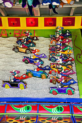 Clown Photograph - Clown Car Racing Game by Garry Gay