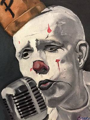 Painting - Clown by Carrie Maurer