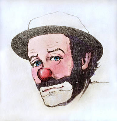 Photograph - Clown Emmett Kelly by Miriam Danar