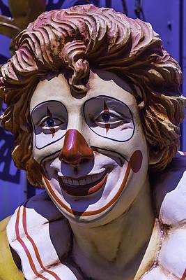 Photograph - Clown Face by Garry Gay
