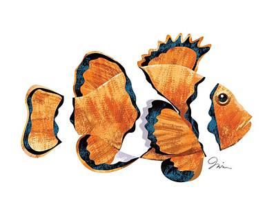 Clown Fish Digital Art - Clown Fish 001 by Trevor Irvin