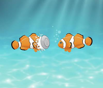 Clown Fish Digital Art - Clown Fish by Alexandre Ibanez