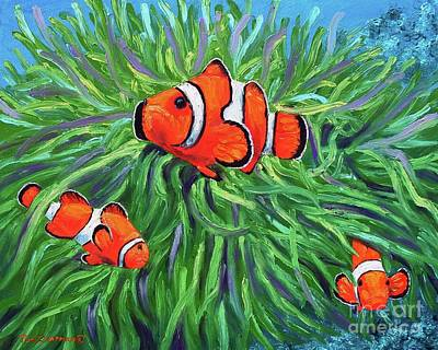 Clown Fish And Sea Anemone Original