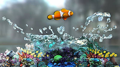 Mixed Media - Clown Fish Collection by Marvin Blaine
