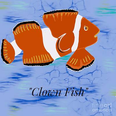 Photograph - Clown Fish Illustration by Susan Garren