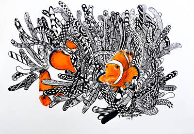 Clown Fish Drawing - Clown Fish by Melissa Lincoln