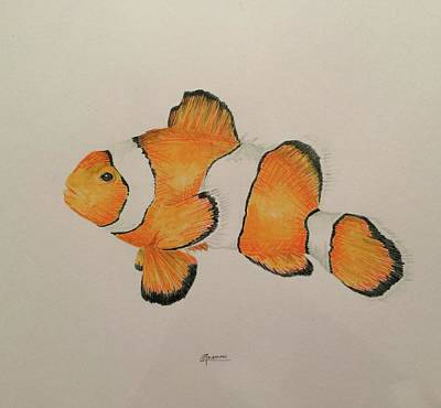 Painting - Clown Fish by Rick Adleman