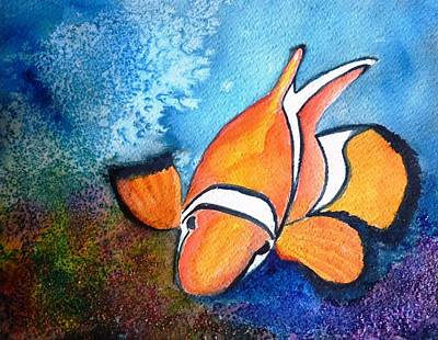 Clown Fish Art Print by Therese Alcorn