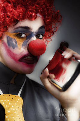 Photograph - Clown Holding Flask by Jorgo Photography - Wall Art Gallery