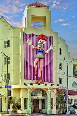 Photograph - Clown In A Dress Venice  by David Zanzinger