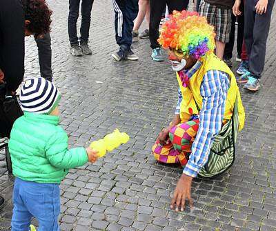 Photograph - Clown In Rome II by Janice Aponte