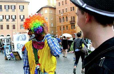 Photograph - Clown In Rome Iv by Janice Aponte