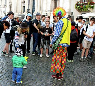 Photograph - Clown In Rome  by Janice Aponte