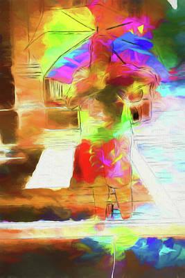 Digital Art - Clown In The Window by John Haldane