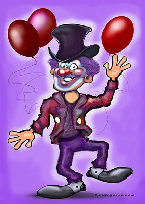 Birthday Digital Art - Clown by Kevin Middleton