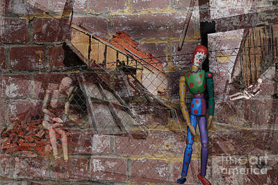 Photograph - Clown Manikin Has A Bad Day by Nareeta Martin