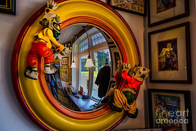Photograph - Clown Mirror by Rick Bragan