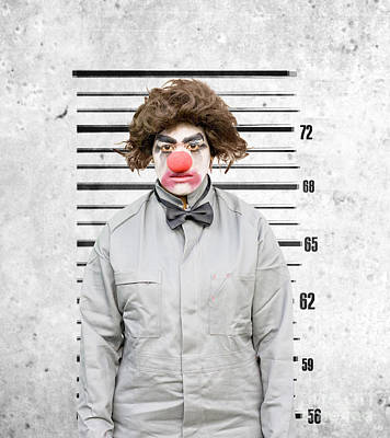 Mess Photograph - Clown Mug Shot by Jorgo Photography - Wall Art Gallery
