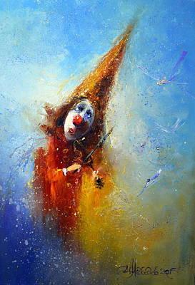 Photograph - Clown Musician by Igor Medvedev