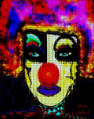 Mixed Media - Clown by Natalie Holland