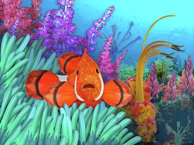 Clown Fish Digital Art - Clown Or Flower by Stewart Melrose