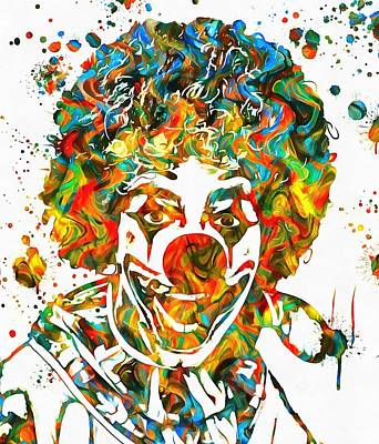 Scary Clown Painting - Clown Paint Splatter by Dan Sproul