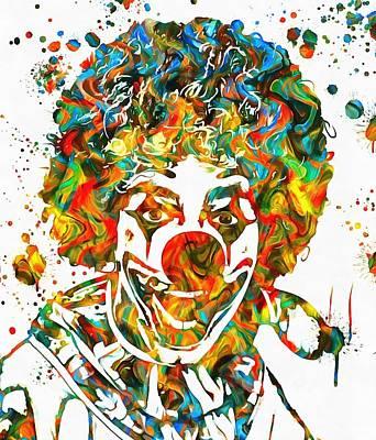 Clown Paint Splatter Art Print by Dan Sproul