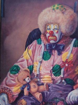 Painting - Clown-rednose by Peter Jean Caley