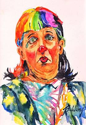 Painting - Clown Series Oh No  by Betty M M Wong