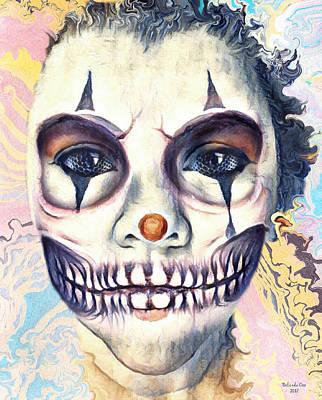 Digital Art - Clown Skelton by Artful Oasis