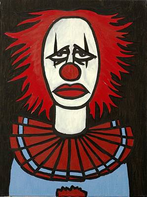 Painting - Clown by Thomas Valentine