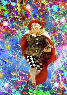 Digital Art - Clown Troubadour  by Matthew Lacey