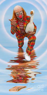 Photograph - Clown With Goose A173322 2x1 by Rolf Bertram