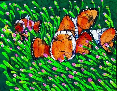 Tapestry - Textile - Clownfish II by Kay Shaffer