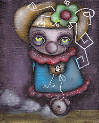 Clowning Around Art Print by  Abril Andrade Griffith