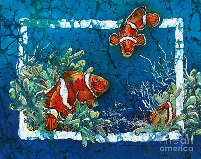 Clowning Around - Clownfish Print by Sue Duda