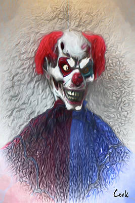 Digital Art - Clownitis by Terry Cork