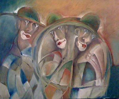 Character Portraits Painting - Clowns by Gyorgy Szilagyi