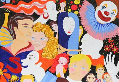 Painting - Send In The Clowns by Jean Clarke