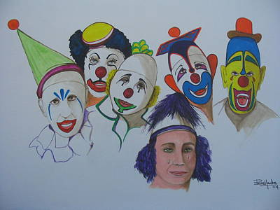 Clowns Art Print