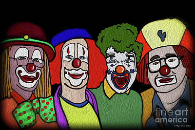Digital Art - Clowns by Megan Dirsa-DuBois
