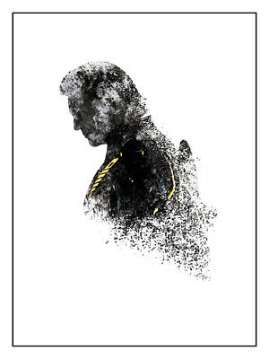 Tron Digital Art - Clu Rinzler Tron Legacy Ink-blot by Dakota Randall